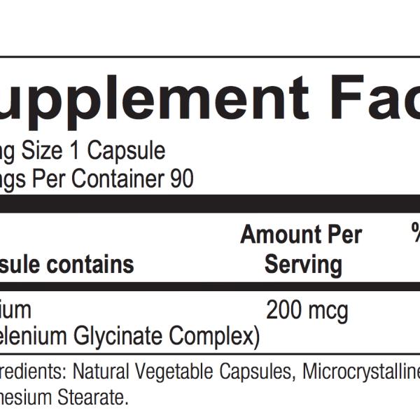 Reacted Selenium ingredients