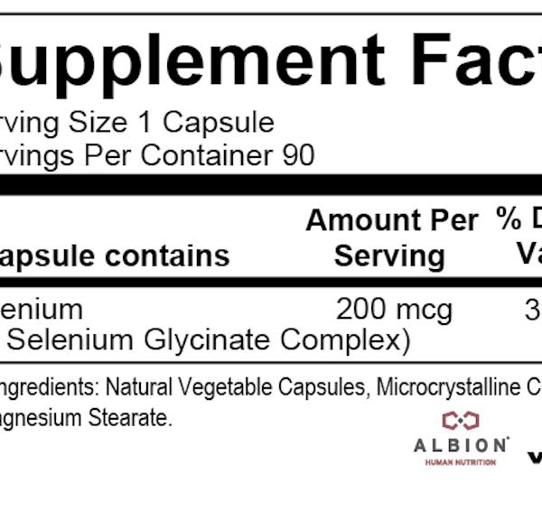 Selenium Essential ingredients
