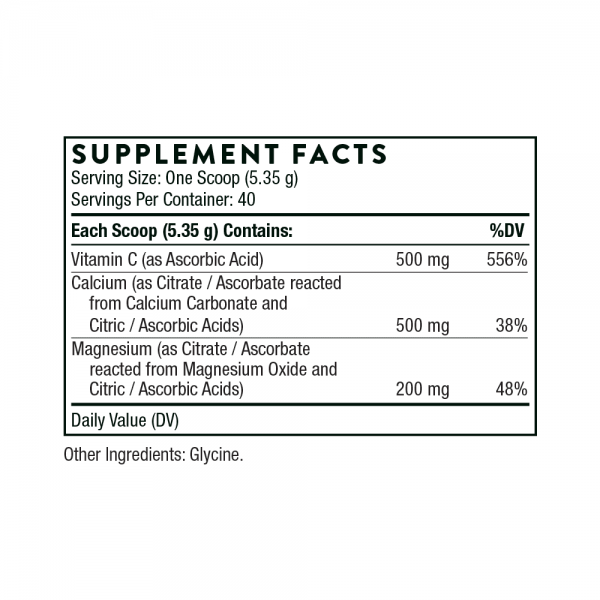 Cal-Mag Citrate ingredients