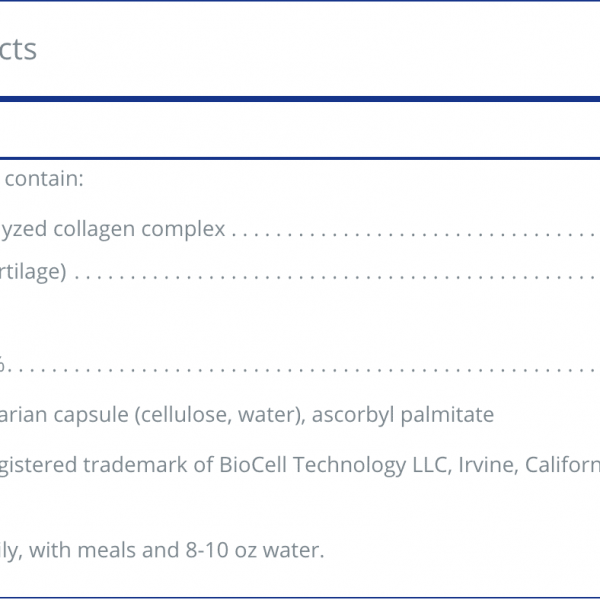 Collagen JS ingredients