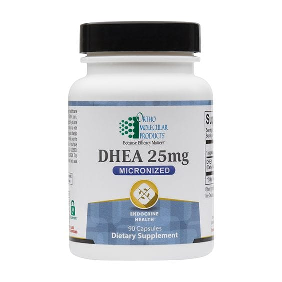 DHEA 25mg label