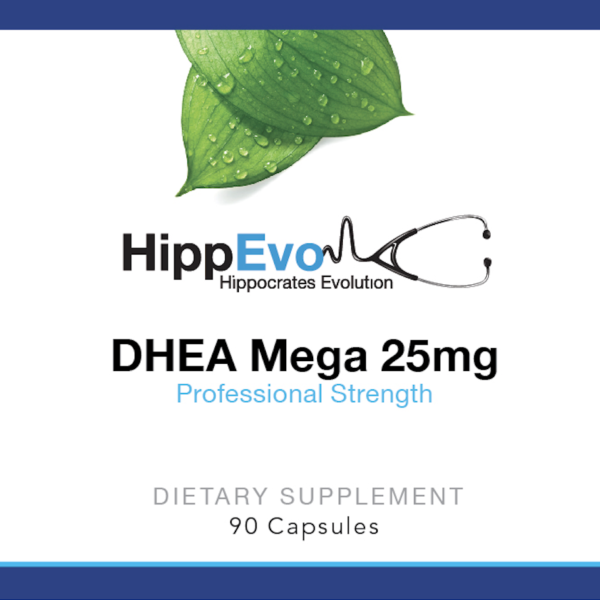 DHEA Mega 25mg label