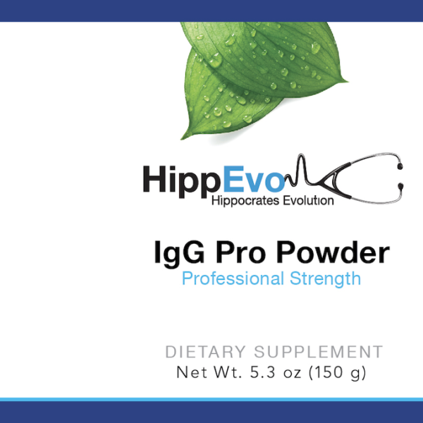 IgG Pro Powder label