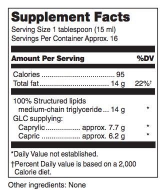 M.C.T. ingredients