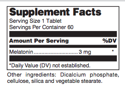 Melatonin PR ingredients