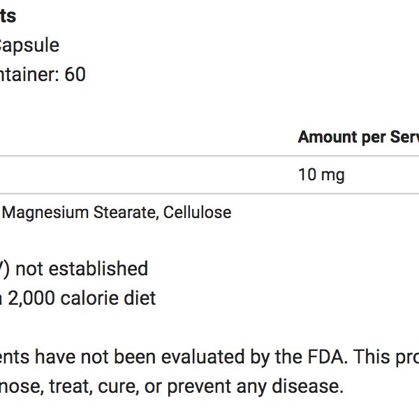Melatonin 10mg ingredients