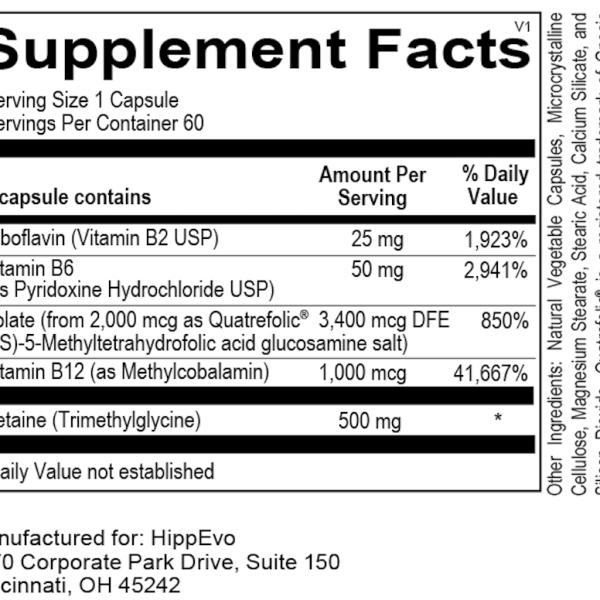 Methyl Pro ingredients