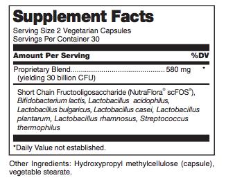 Multi-Probiotic YC-7 ingredients