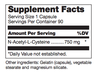 N-Acetyl Cysteine ingredients