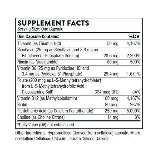 Stress B-Complex ingredients