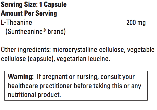 L-theanine ingredients