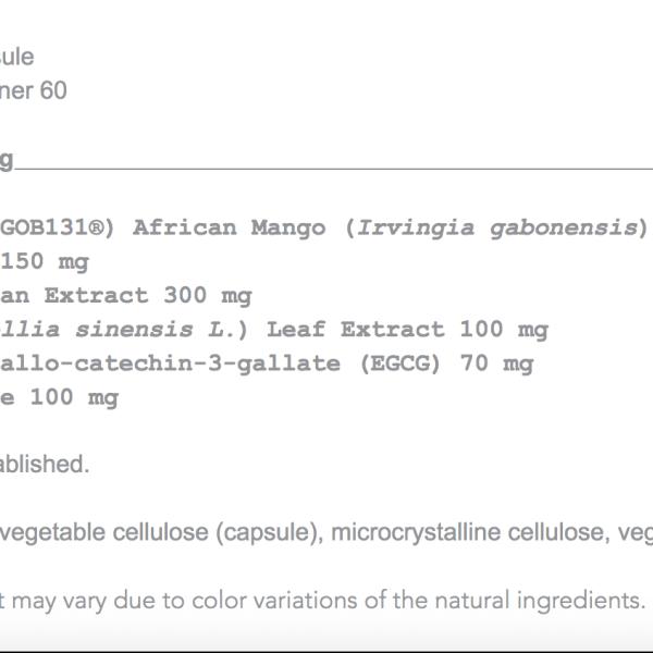 mango plex ingredients