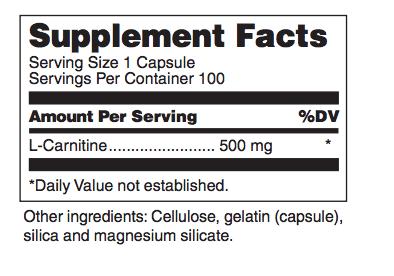 max carnitine ingredients