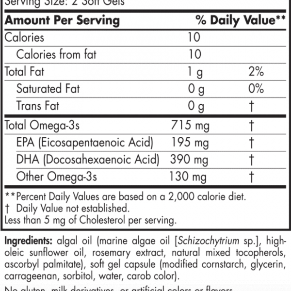 Algae Omega ingredients