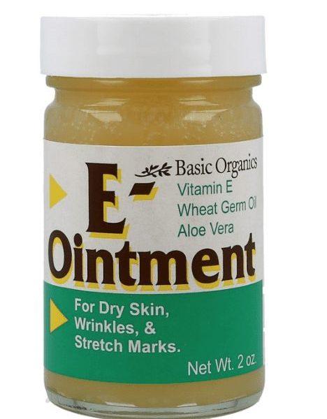 E Ointment label