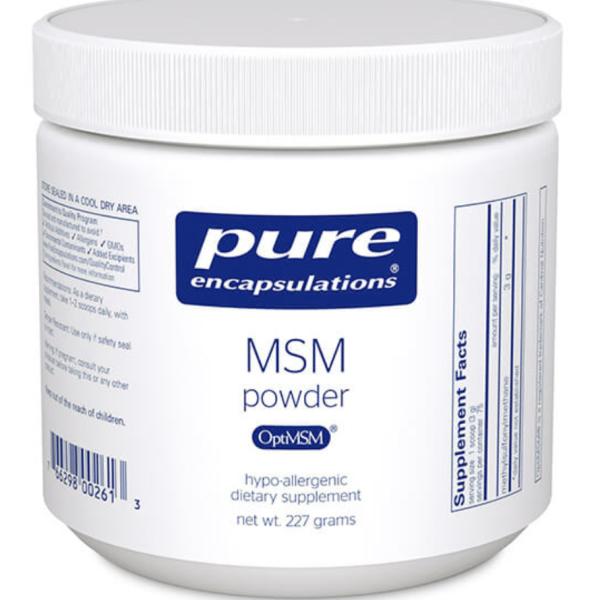 MSM powder label