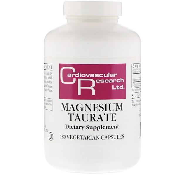Magnesium Taurate label