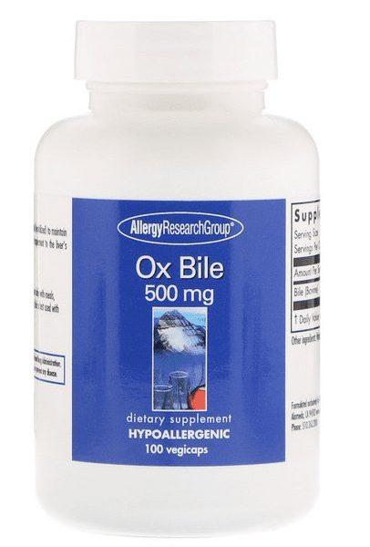 Ox Bile label