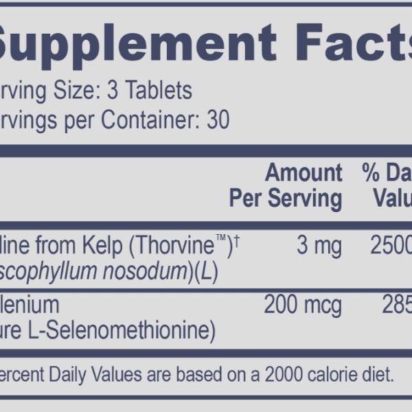 Selenometh Iodine ingredients