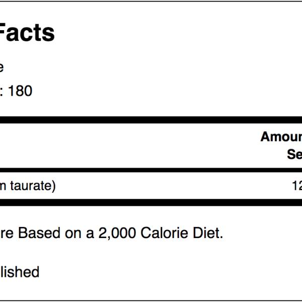 mag taurate ingredients