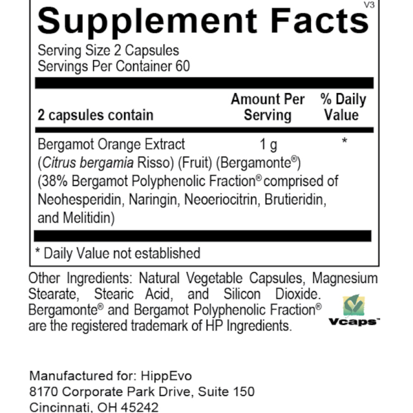 BergaMetabolic 120 ingredients
