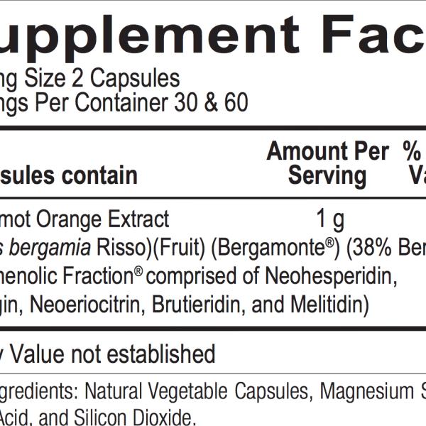Bergamot 120 ingredients