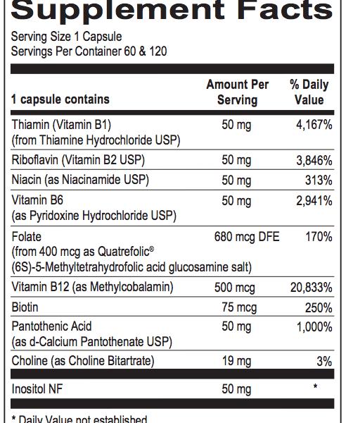 Methyl B Complex ingredients