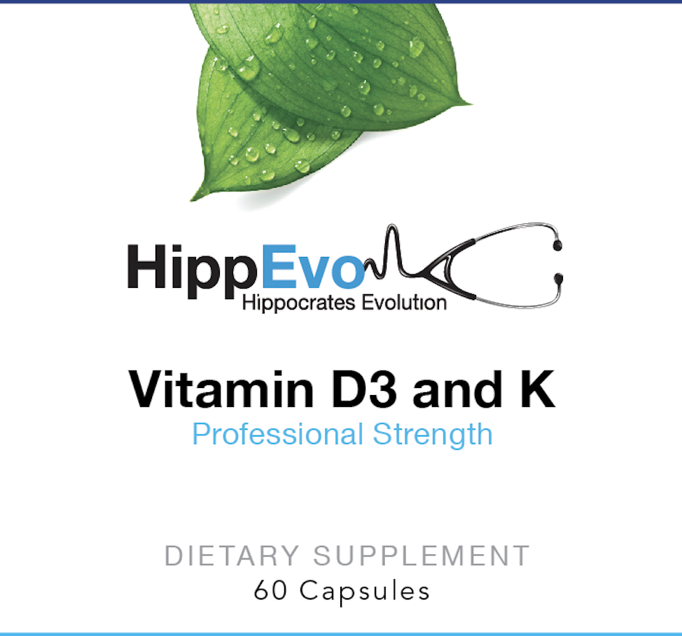 Vitamin D3 and K label