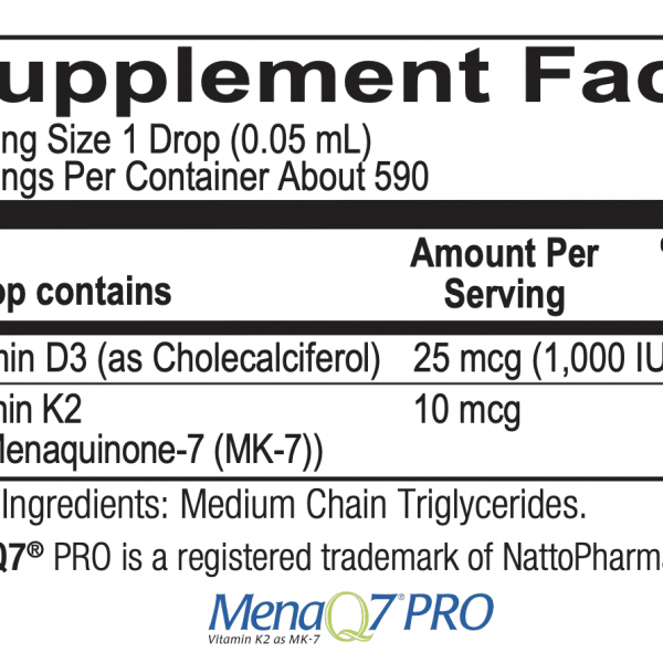 D3 with K2 ingredients