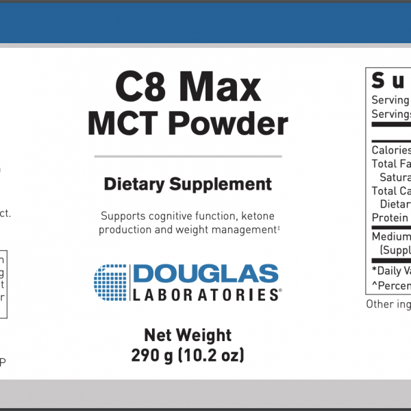 C8 Max MCT ingredients