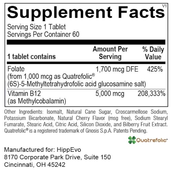Methyl Folate B12 ingredients