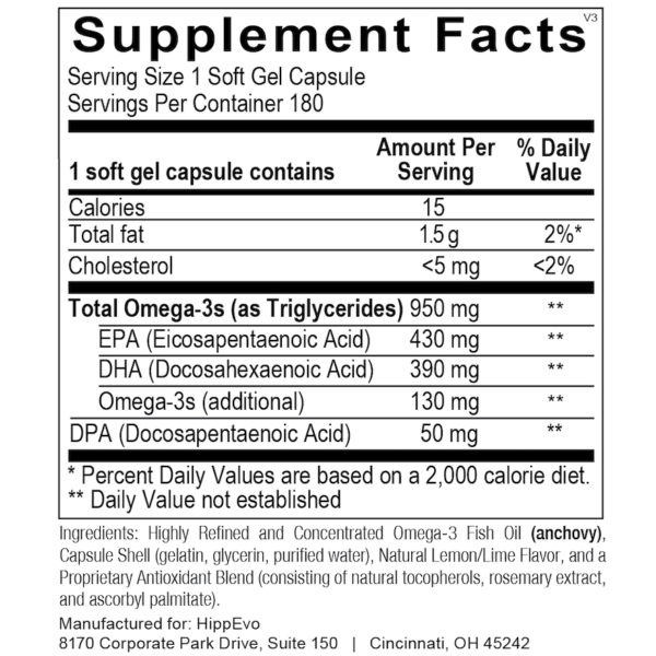 Omega Tri Max 180 ingredients