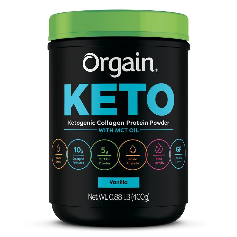 Orgain KETO vanilla label