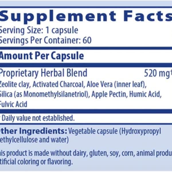 GI Detox ingredients