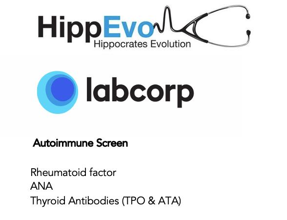 Autoimmune screen list