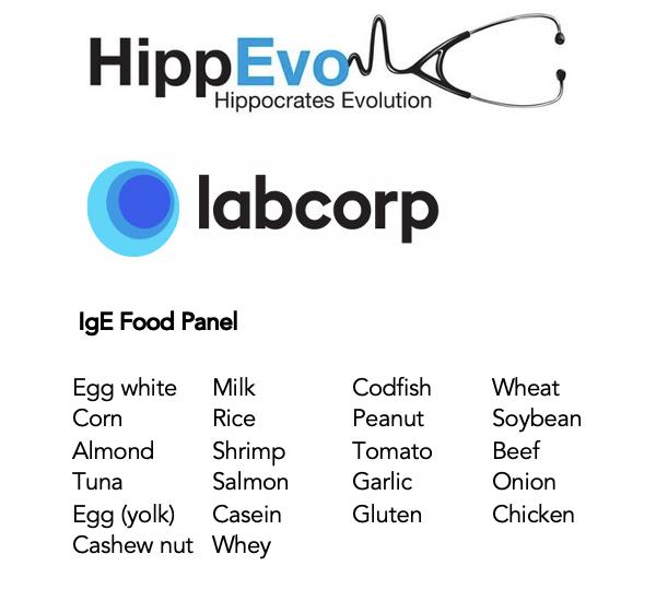 IgE food panel list
