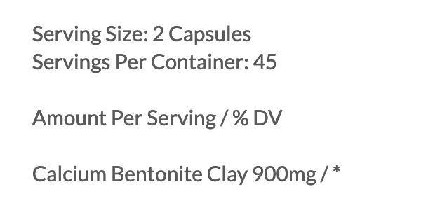 Medi-Clay-Fx ingredients