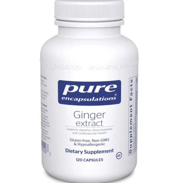 ginger extract label